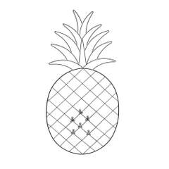 Pineapple -  Svart 35x0.5x66cm Metall