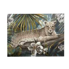Leopard - Bilde Multi 90x120x3,8cm Canvas