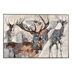 Modern Deer - Bilde Multi 120x80x3,5cm Canvas